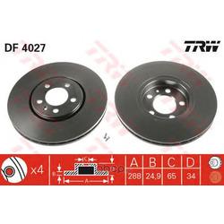 Тормозной диск (TRW/Lucas) DF4027