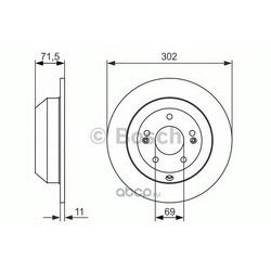 Тормозной диск (Bosch) 0986479081