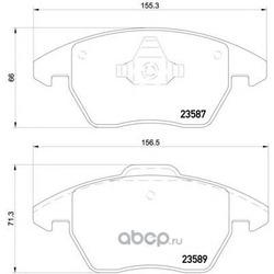 Колодки тормозные дисковые TEXTAR (Textar) 2358704