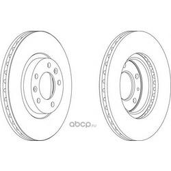 Тормозной диск (Ferodo) DDF1132