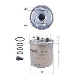 Топливный фильтр (Mahle/Knecht) KL490D