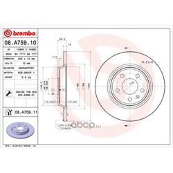 Тормозной диск (Brembo) 08A75911
