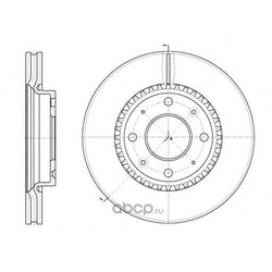 Тормозной диск (Remsa) 688910