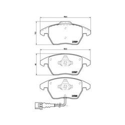 Колодки тормозные дисковые передние, комплект (Brembo) P85075