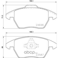Комплект тормозных колодок, дисковый тормоз (Brembo) P85148