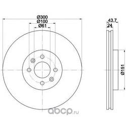 Тормозной диск (Mintex) MDC1693
