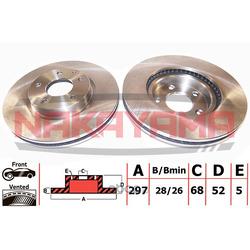 Торм. диск перед. (вент.) Mazda CX-5 04.11-, Mazd (NAKAYAMA) Q4869