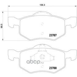 Колодки тормозные дисковые TEXTAR (Textar) 2378701