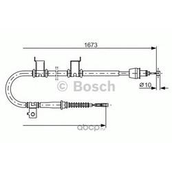 Трос, стояночная тормозная система (Bosch) 1987482361