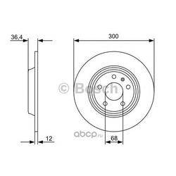 Диск, тормозной (Bosch) 0986479382