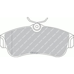 Комплект тормозных колодок, дисковый тормоз (Ferodo) FDB604