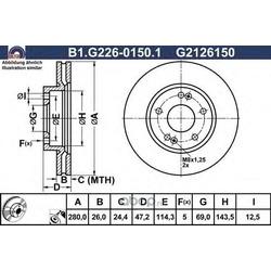 Тормозной диск (GALFER) B1G22601501