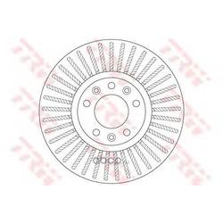 Диск тормозной вентилируемый (TRW/Lucas) DF6419