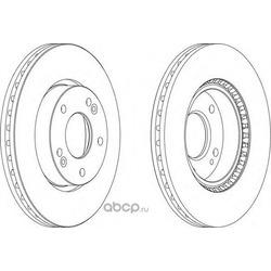 Тормозной диск (Ferodo) DDF1619