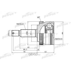 ШРУС наружный с кольцом ABS 27x62.1x24 ABS:48T KIA SPORTAGE 04-10 (PATRON) PCV3036