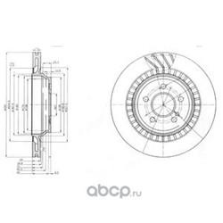 Тормозной диск (Delphi) BG4144