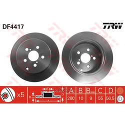 Диск тормозной (TRW/Lucas) DF4417