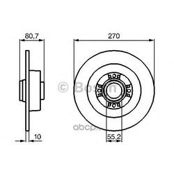 Диск тормозной (Bosch) 0986479196