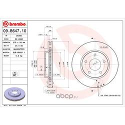 Тормозной диск (Brembo) 09B64710