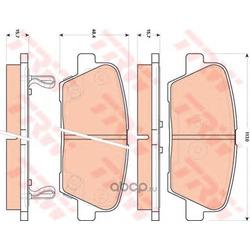 Колодки тормозные задние (TRW/Lucas) GDB3499
