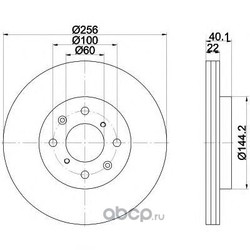 Диск тормозной TEXTAR (Textar) 92232803