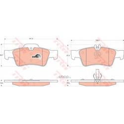 Колодки тормозные задние (TRW/Lucas) GDB1546