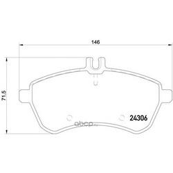 Комплект тормозных колодок, дисковый тормоз (Mintex) MDB2830