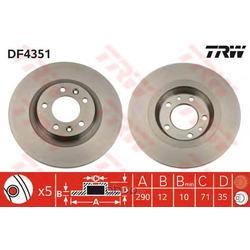 Тормозной диск (TRW/Lucas) DF4351
