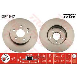 Тормозной диск (TRW/Lucas) DF4947