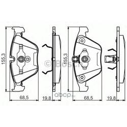 Комплект тормозных колодок (Bosch) 0986495082