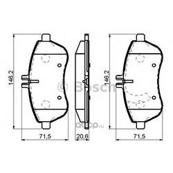 Комплект тормозных колодок, дисковый тормоз (Bosch) 0986494161