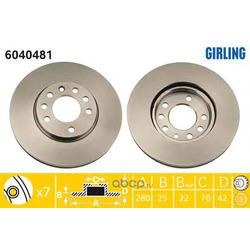 Тормозной диск (Girling) 6040481