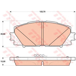 Комплект тормозных колодок, дисковый тормоз (TRW/Lucas) GDB4173
