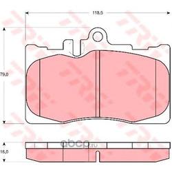 Комплект тормозных колодок, дисковый тормоз (TRW/Lucas) GDB3322