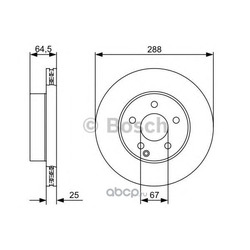 Диск тормозной вентилируемый (Bosch) 0986479406
