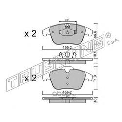 Комплект тормозных колодок, дисковый тормоз (Trusting) 6915