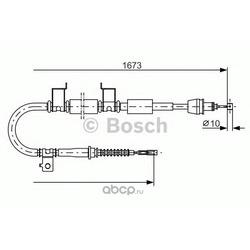 Трос стояночного тормоза правый (Bosch) 1987482362