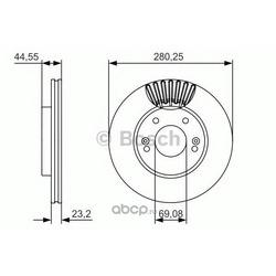 Тормозной диск (Bosch) 0986479A12