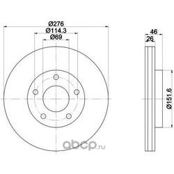 Тормозной диск (Mintex) MDC2225