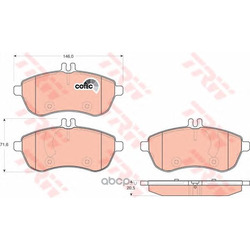Комплект тормозных колодок, дисковый тормоз (TRW/Lucas) GDB1736