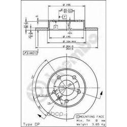 Тормозной диск (Brembo) 08762775