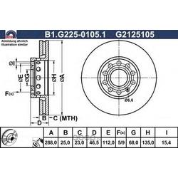 Тормозной диск (GALFER) B1G22501051