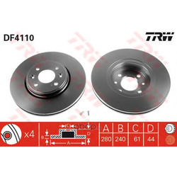 Тормозной диск (TRW/Lucas) DF4110