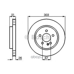 Тормозной диск (Bosch) 0986478468