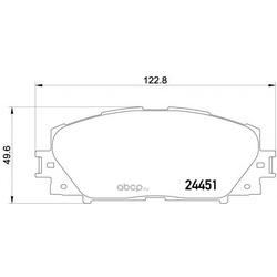 Колодки тормозные дисковые TEXTAR (Textar) 2445101
