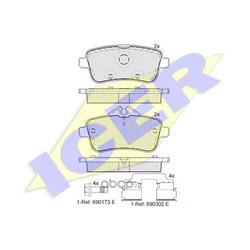 Комплект тормозных колодок, дисковый тормоз (Icer) 182072200