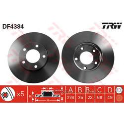 Диск тормозной вентилируемый (TRW/Lucas) DF4384