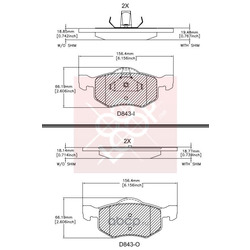 Дисковые тормозные колодки (Friction Master) ELT843