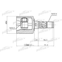 ШРУС внутренний правый 30x38x25 KIA SORENTO 02-09 (PATRON) PCV1357