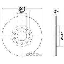 Диск тормозной TEXTAR (Textar) 92057603